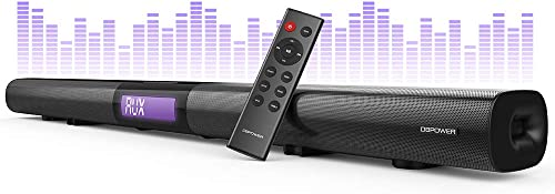 DBPOWER Soundbar for TV, 37 inch 2.1 Channel Wired and Wireless Bluetooth Optical Soundbar, Home Theater TV Speaker for TV PC Smartphone Stereo Surround Sound, Remote Controlled Wall-mountable