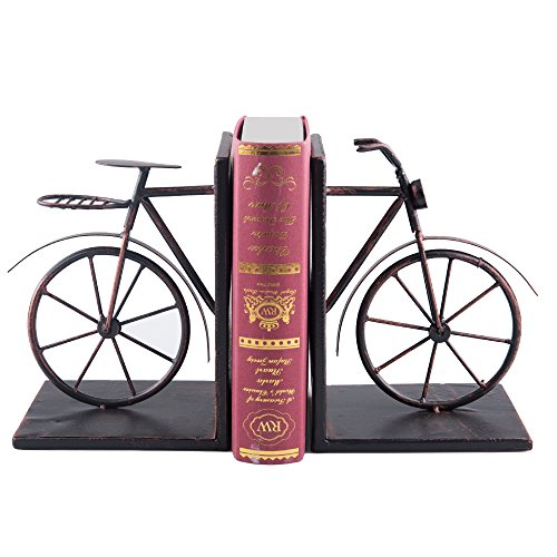 Fasmov Vintage Style Bicycle Bookends Art Bookend, Bronze