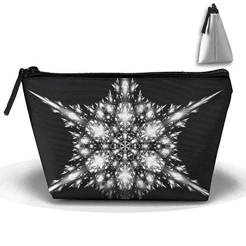 Fractal Snowflake Large Cute Trip Toiletry Bag Trapezoidal Zipper Receive Bag Travel Fashion (Fractal Snowflake)