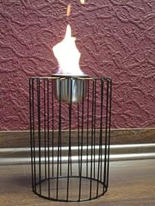 Linterna de bioetanol chimenea de metal portavelas
