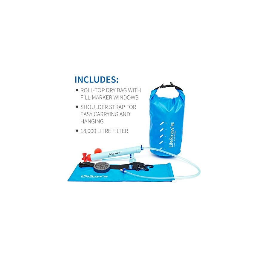 LifeStraw Mission Water Purification System, High Volume Gravity Fed Purifier for Camping and Emergency Preparedness
