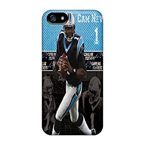 First-class Case Cover For Iphone 5/5s Dual Protection Cover Carolina Panthers