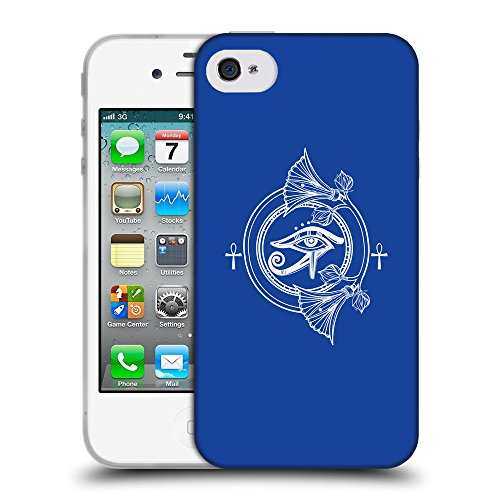 GoGoMobile Coque de Protection TPU Silicone Case pour // Q09880613 Religion 28 Bleu // Apple iPhone 4 4S 4G