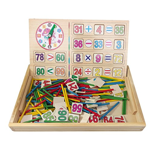 MICHLEY Montessori Math Rods Toddler Teaching Tools Children Montessori Counting Toys Wooden Counting Sticks