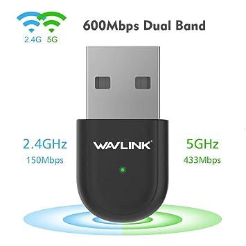 Amazon.com: Adaptador USB WiFi, adaptador de red inalámbrico ...