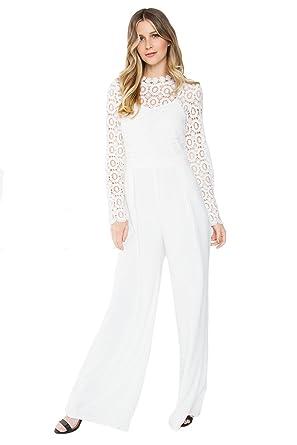 db64f68d0ff Amazon.com  Sugar Lips Ariella Crochet Jumpsuit - L  Clothing