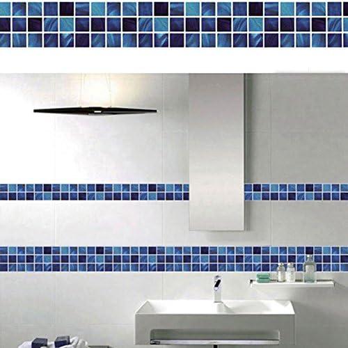 Amazon Com Fabura Modern Waterproof Bathroom Eco Friendly Mosaic Wall Backsplash Tile Self Adhesive Sticker Decals 3d Imitation For Kitchen And Bathroom Home Decor 35 27oz Home Kitchen