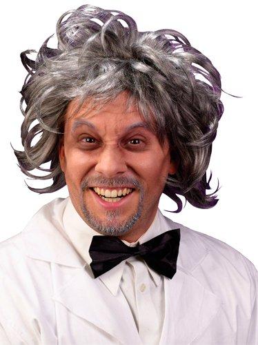 Fun World Men's Mad Scientist Wig Pbi, Multi, Standard