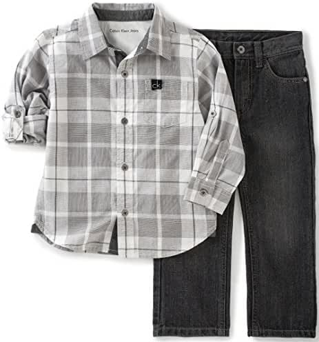 Calvin Klein Baby Boys' Shirt and Jeans Pants Set