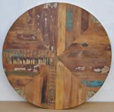 Antique Rustic Reclaimed Wood Round Table Top 30'' x 30''x 1'' Multi Color