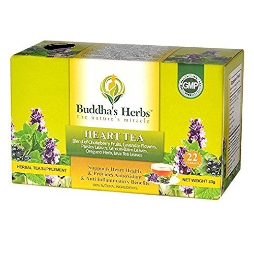 Premium Heart Tea - 22 cnt Tea Bags (2 Packs) - Herbal Tea for Heart Health with Chokeberry Fruits and Lavender Flowers