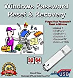 Windows Password Reset Recovery USB for Windows 10, 8.1,8, 7, Vista, XP in 32-64 bit. #1 Best Unlocker Software Tool For All PCs and Laptops