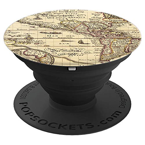 - Central America Old Map Antique Travel Design Zx - PopSockets Grip and Stand for Phones and Tablets