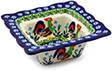 Product review for Polish Pottery Square Bowl 5-inch (Country Rooster Theme) Signature UNIKAT