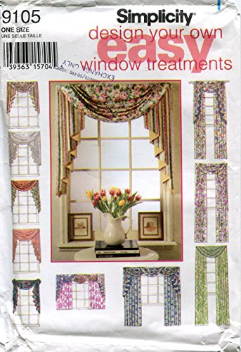 Simplicity Pattern 9105 Design Your Own Window Treatments Tailored Drapery Panel