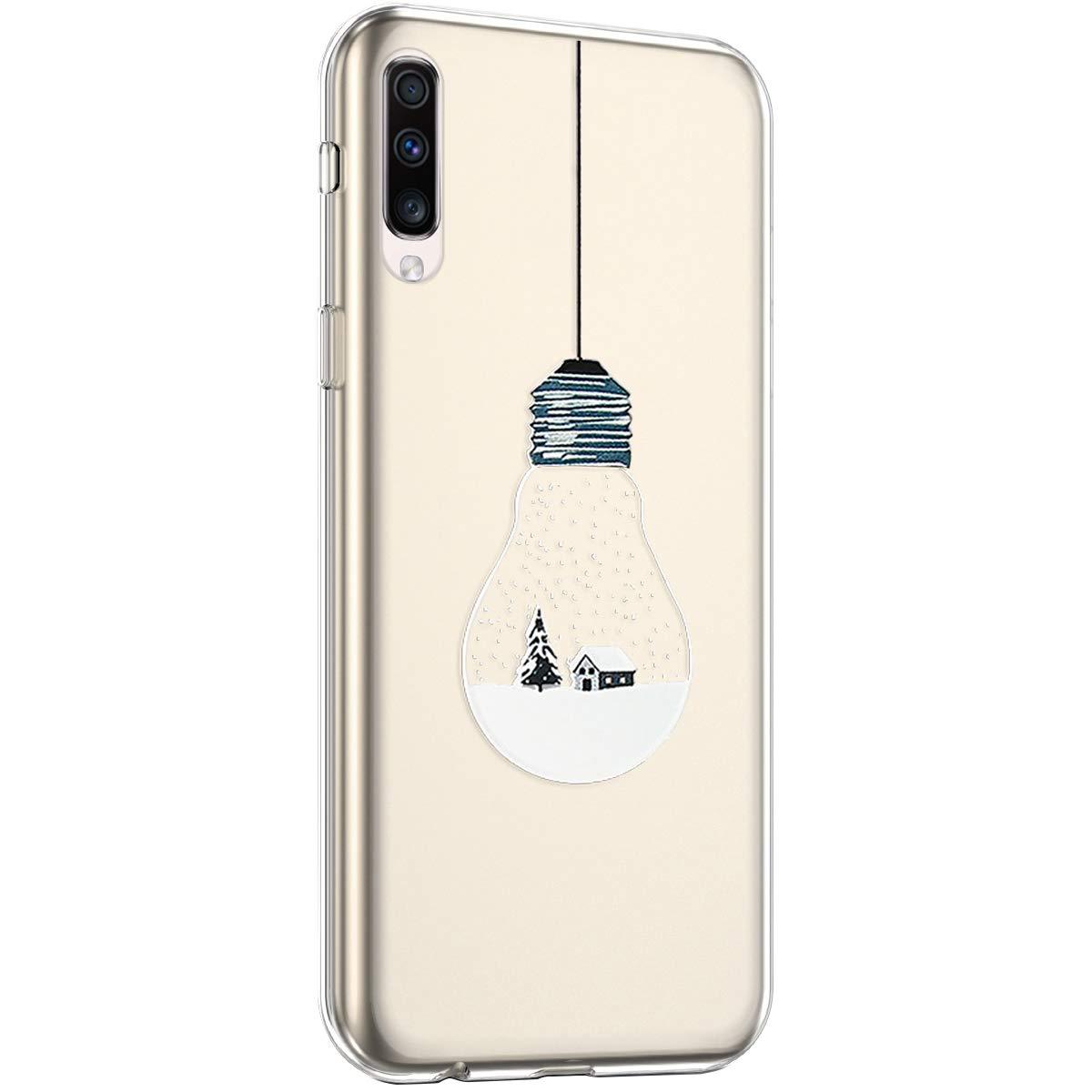 Uposao Kompatibel mit Samsung Galaxy A70 H/ülle Silikon Transparent Schutzh/ülle Schneeflocken Xmas Handyh/ülle mit Weihnachten Muster Motiv Durchsichtig Tasche Case,Weihnachten Hirsch