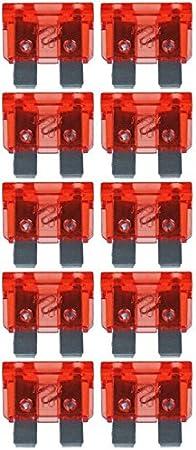Baytronic Standard Flachstecksicherung Kfz Sicherung 10 Stück 10 A Rot Navigation