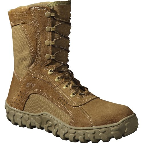 Rocky Men's 8 Inch S2v Protective Toe 6104 Steel Toed Work Shoe,Coyote Brown,9.5 M ()