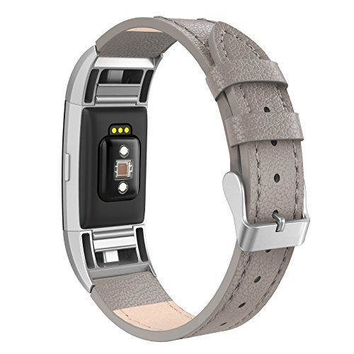 SWEES Bands Compatible Charge 2 Leather Small (5.6
