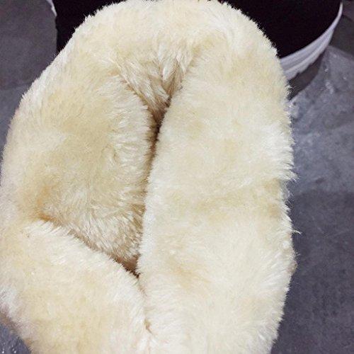 Sikye Womens Casual Nappa Scarpe Al Ginocchio Inverno Caldo Stivali Da Neve Slip On Black