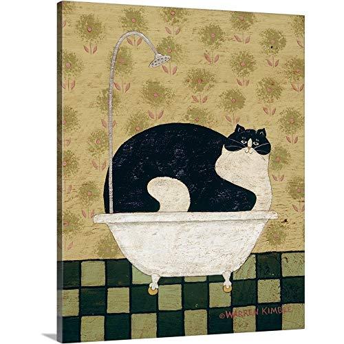 Cat in a Hot Tin Tub Canvas Wall Art Print, 11