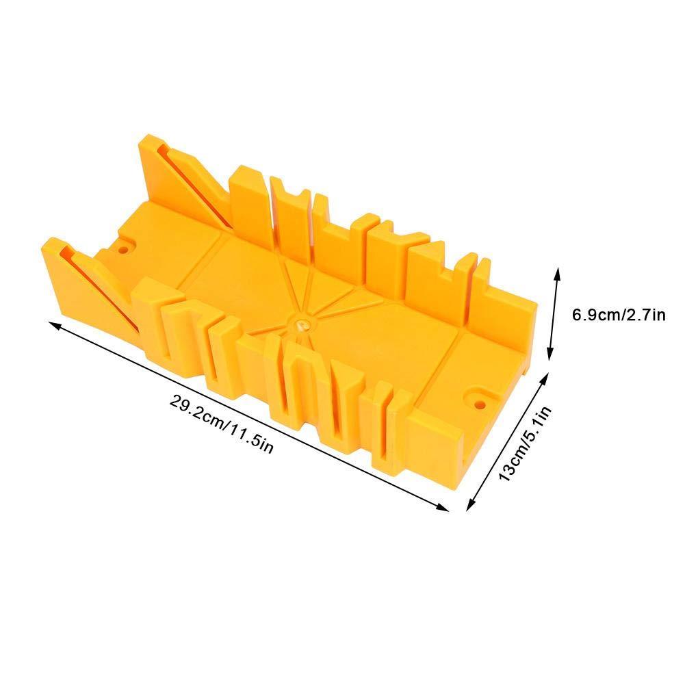 Bo/îte de serrage avec scie artisanat bo/îte /à onglets de serrage en plastique ABS /à angles multiples de 12 pouces avec scie arri/ère de 14 pouces pour le bricolage du bois d/écoration de la maison