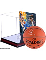 8743f8cb7573 Stephen Curry Golden State Warriors Autographed Indoor Outdoor Basketball  and NBA Record 13 3-Pointers Display Case with Image…