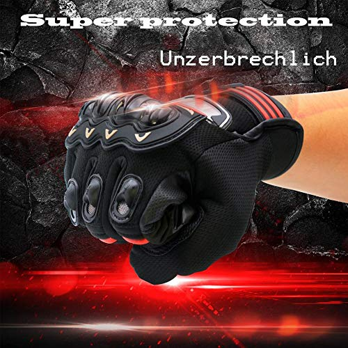 skyning Cycling Gloves, Full Finger Touch Gloves Racing Motorcycle Gloves Motocross Bike Buggy Gloves Waterproof Sports Gloves