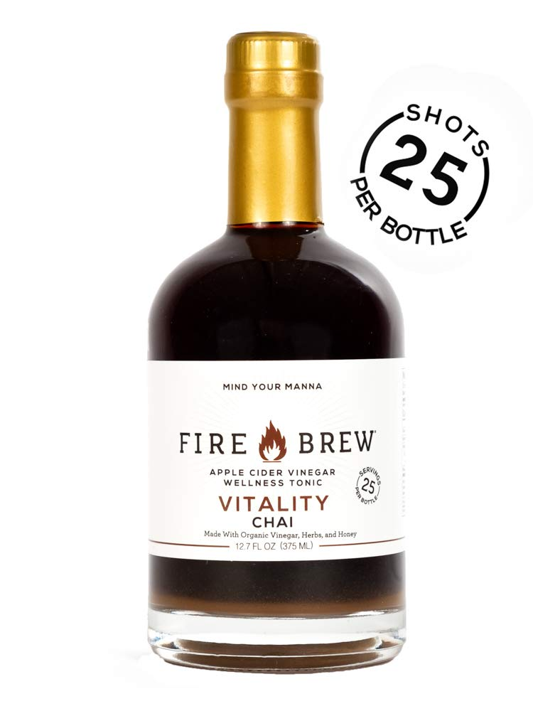 Fire Brew Apple Cider Vinegar Based Health Tonic, Chai for Vitality, 12.7 OZ (25 shots per bottle) (1 bottle) by Fire Brew