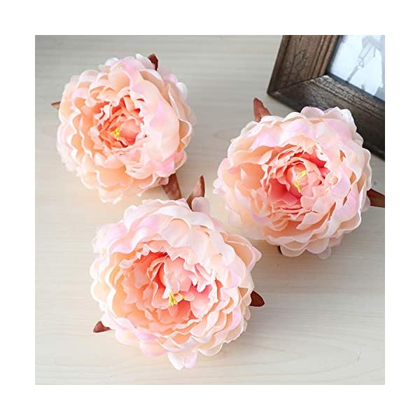 50Pcs Artificial Flowers Heads Hydrangea Peony Flower Heads Silk Artificial Flowers Wall for Wedding Decoration Background Wall,Pansy