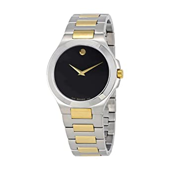 df26bdc1688 Image Unavailable. Image not available for. Color  Movado Collection Black  Dial Two-Tone Mens Watch 0606907