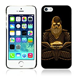 iKiki-Tech Hard Case Cover for Apple iPhone 5 5S - Cool Fantasy Buddha Warrior