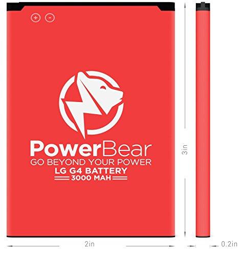 PowerBear LG G4 Battery   3000mAh Li-Ion Battery for the G4 [US991, H812, H815, AT&T H810, T-Mobile H811, Sprint LS991, Verizon VS986]   LGG4 Spare Battery [24 Month Warranty] by PowerBear (Image #4)