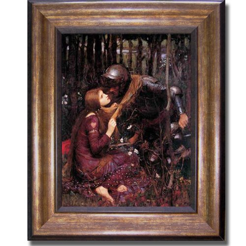 La Belle Dame Sans Merci by Waterhouse Premium Bronze Framed Canvas - Merci Framed Belle Sans Dame