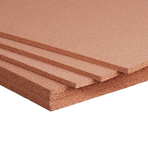 Cork Dark Panel - Manton Cork Sheet, 100% Natural, 4' x 8' x 3/8