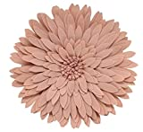 Fennco Styles 3D Sunflower Decorative Throw Pillow 13'' Round (Rose, Case+Insert)