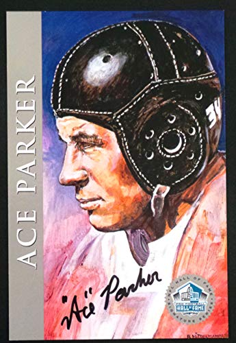 PRO FOOTBALL HALL OF FAME Clarence Ace Parker 1998 Platinum Signature Series NFL HOF Signed Autograph Limited Edition Card
