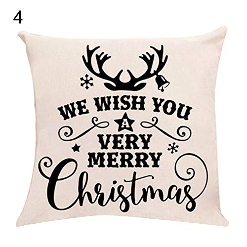 wsloftyGYd Merry Christmas Snowflake Tree Pillow Cover Cushion
