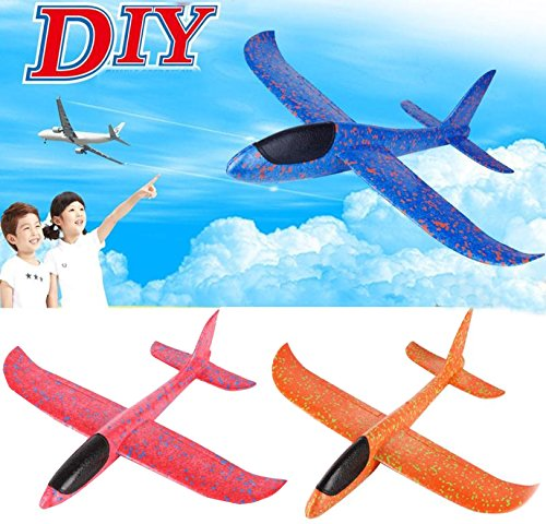 stewarted Children Gifts Hand Launch Throwing Glider Aircraft Inertial Foam EVA Airplane Toy Plane Model Outdoor Fun Sports Interesting Toys by stewarted