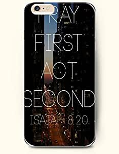 iPhone 6 Case,OOFIT iPhone 6 (4.7) Hard Case **NEW** Case with the Design of ray first act second isaiah 8:20 - Case for Apple iPhone iPhone 6 (4.7) (2014) Verizon, AT&T Sprint, T-mobile