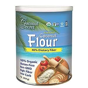 Amazon.com : Coconut Secret Raw Coconut Flour - 1 lb