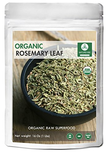 Naturevibe Botanicals Organic Whole Rosemary leaf, 1 Pound