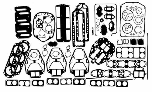 Sierra 18-4319 Powerhead Gasket Set (Set Sierra Powerhead Gasket)
