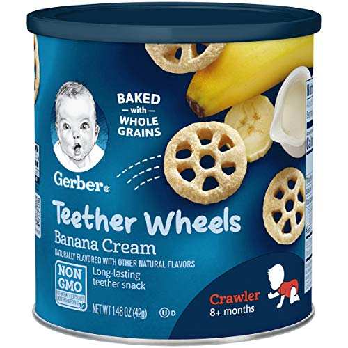 Gerber Teether Wheels, Banana Cream, 1.48 Ounce (Pack of 6) (Best Baby Food Brand For 6 Month Old)