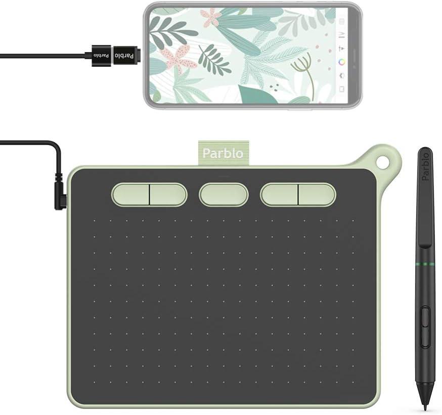 avec Stylet sans Batterie Parblo Tablette Graphique Ninos M 9 x 5 Pouces 8192 Niveaux pour OSU Noir Compatible avec Android//Mac//Windows Bureau en Accueil Ligne et e-Learning
