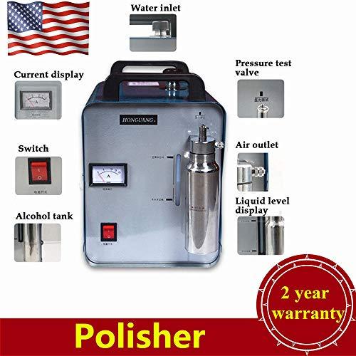 H160 Polisher 75L/H Portable Oxygen Hydrogen Flame G.e.n.e.r.a.t.o.r Water Welder Flame Polisher Torch Acrylic Polishing Machine USA Stock