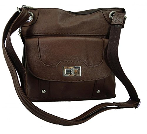 Concealed Carry Cross Body Leather Gun Purse with Locking...