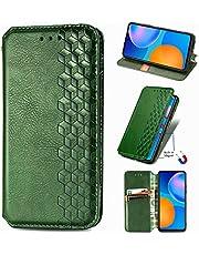 ESONG Case voor OnePlus Nord 2 5G,Retro PU Lederen Wallet Case,Collectie Premium Lederen Folio Cover met [Card Slots] en [Kickstand]-groente
