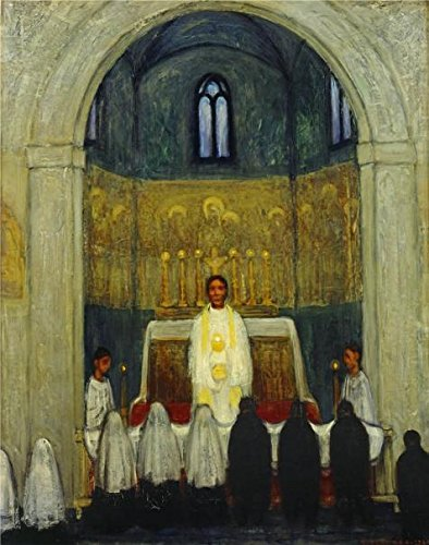 Oil Painting 'The Communion By Albert Servaes', 18 x 23 inch / 46 x 58 cm , on High Definition HD canvas prints is for Gifts And Bed Room, Dining Room And Nursery Decoration, family (Family Hope Program Guide)