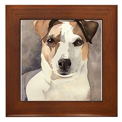 Jack Russell Terrier Tile - CafePress Jack Russell Terrier Stuff! Framed Tile, Decorative Tile Wall Hanging